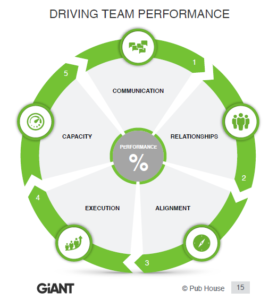 chart displaying characteristics that drive team performance